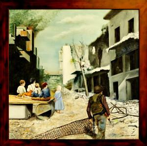 Aleppo 2013 olie op doek 90 x 90 € 1.000