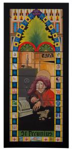 St. Pecunius olie op doek 45 x 115 € 750