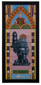 St. Isitart olie op doek 45 x 115 € 750