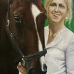 Pierre: jonge vrouw met paard