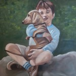 Jongen met zijn hond, Yvonne